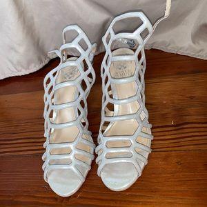 Vince Camuto champagne mini heels